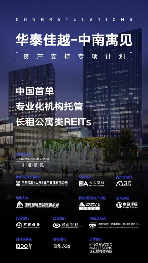中国首单专业化机构托管长租公寓类REITs获深交所审议通过